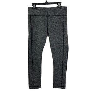 Under Amour Black Space Dye Cropped Leggings